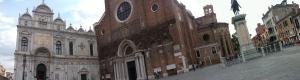 Campo SS. Giovanni e Paolo com Ospedale e Scuola San Marco, Basilica de SS. Giovanni e Paolo e Estatua de Colleoni