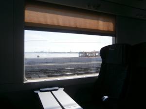 De trem, chegando em Veneza