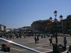 Chegada de trem à Veneza