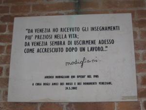 Modigliani em Veneza