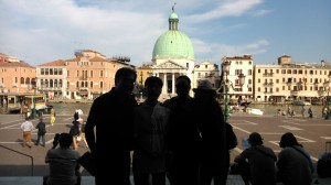 Chegando em Veneza