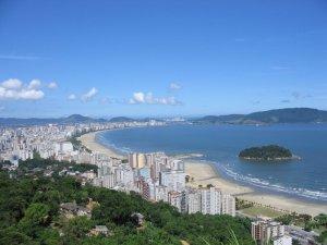Vista panorâmica de Santos
