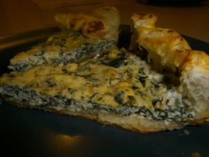 Torta Salgada de espinafre e ricota
